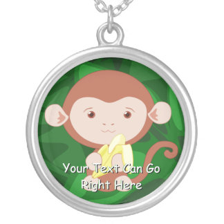 Cute Monkey and Banana Necklace