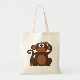 Cute Monkey Budget Tote Bag