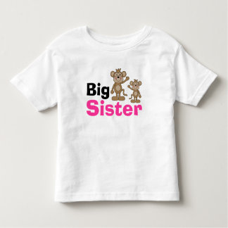 Cute Monkey Big Sister Toddler T-shirt