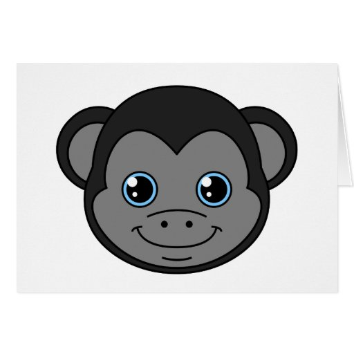 Cute Monkey Black Licorice Card