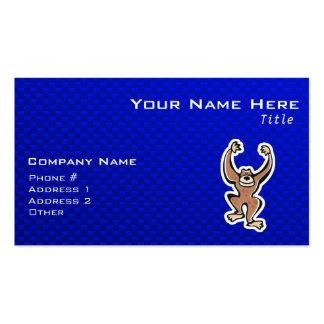Cute Monkey; Blue Business Card