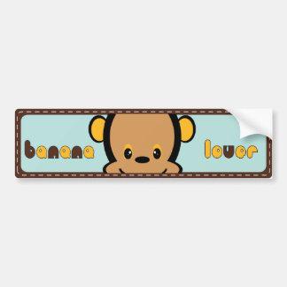 cute monkey bumper sticker