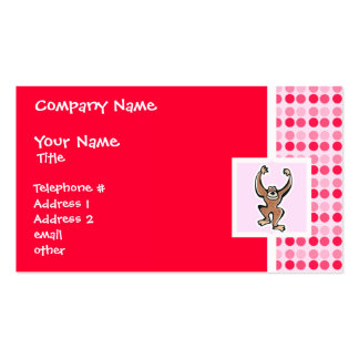 Cute Monkey Business Card