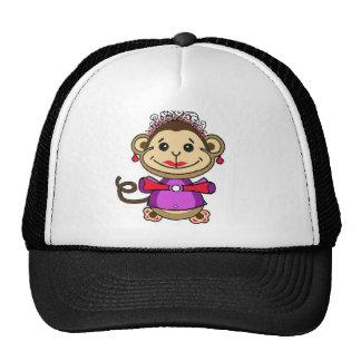 cute monkey cartoon, lovable animal. hat