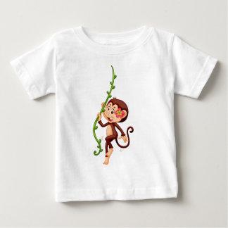 Cute monkey climbing the vine baby T-Shirt