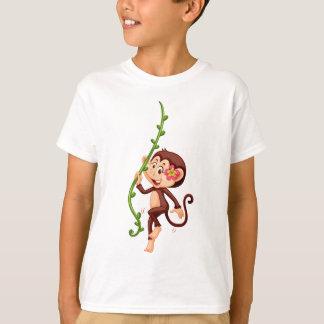 Cute monkey climbing the vine T-Shirt