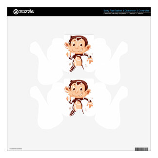 Cute monkey dancing alone PS3 controller decal