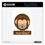 cute monkey decal for the iPhone 3GS