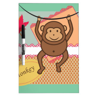 Cute monkey Dry-Erase board