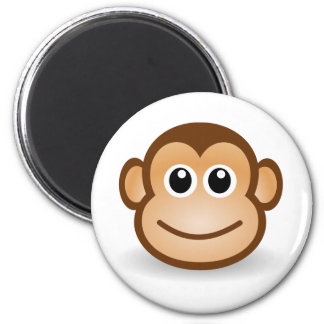 Cute Monkey Face 2 Inch Round Magnet