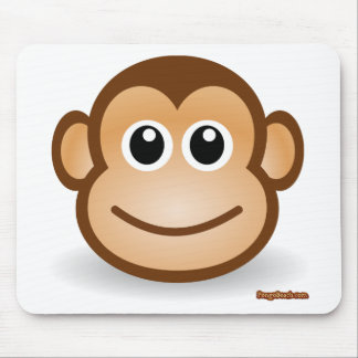 Cute Monkey Face Mouse Pad