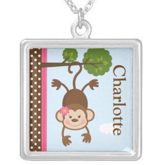 Cute Monkey Girl Necklace