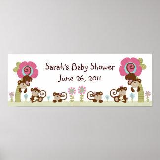Cute Monkey Girl Poster/Banner Poster