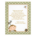 Cute Monkey Green/Brown Thank you cards Personalized Announcements