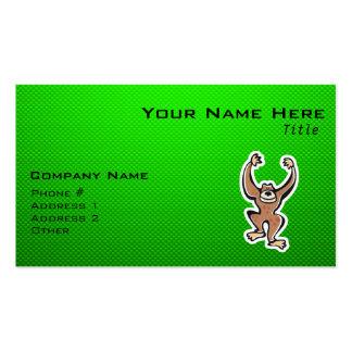 Cute Monkey; Green Business Card