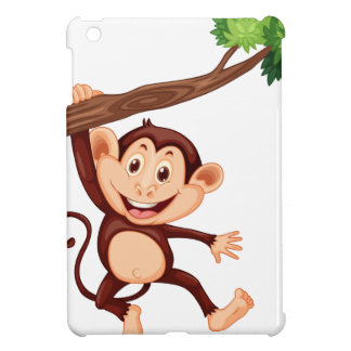 Cute monkey hanging on the branch iPad mini covers
