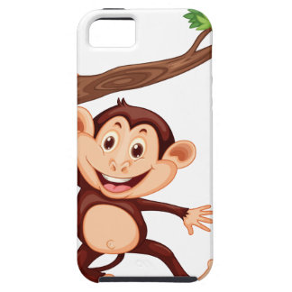 Cute monkey hanging on the branch iPhone SE/5/5s case