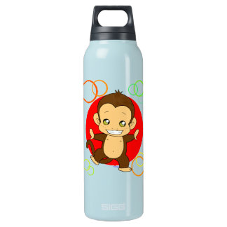 Cute monkey insulated water bottle