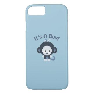 Cute Monkey - It's a boy! iPhone 7 Case