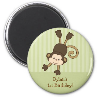 Cute Monkey Kids Birthday Favor Magnets