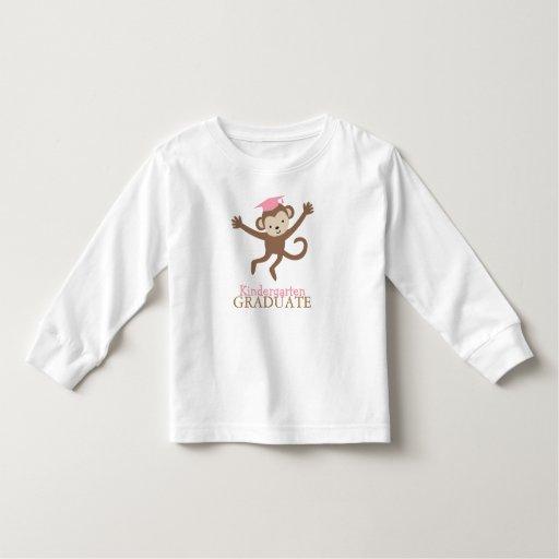 Cute Monkey Kindergarten Graduate {pink} Toddler T-shirt