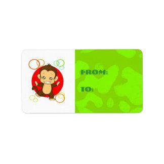 Cute Monkey Address Label