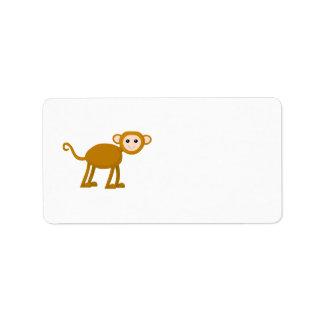 Cute Monkey. Address Label