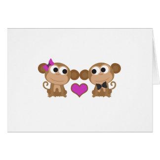 Cute Monkey Love Stationery Note Card