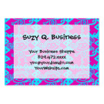 Cute Monkey Magenta Teal Animal Pattern Kids Gifts Large Business Cards (Pack Of 100)