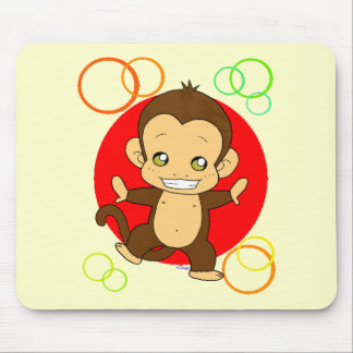 Cute Monkey Mouse Pad