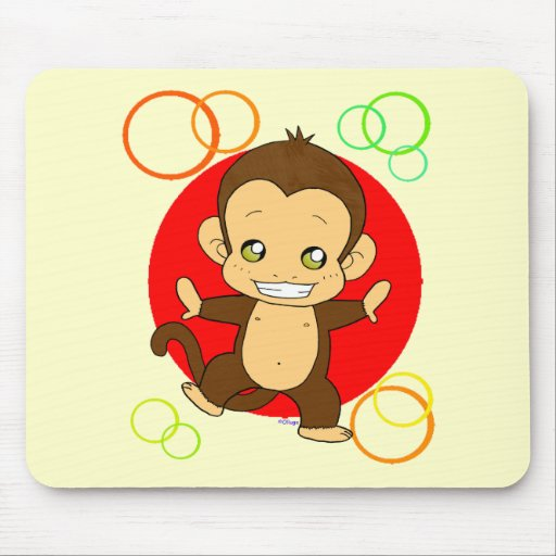Cute Monkey Mouse Pads