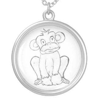 Cute Monkey Necklace