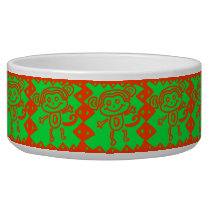 Cute Monkey Orange Green Animal Pattern Bowl