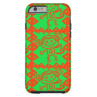 Cute Monkey Orange Green Animal Pattern Tough iPhone 6 Case