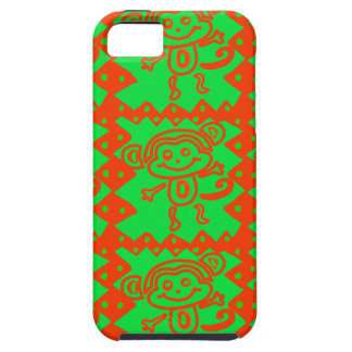 Cute Monkey Orange Green Animal Pattern iPhone 5 Covers