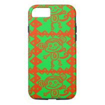 Cute Monkey Orange Green Animal Pattern iPhone 8/7 Case