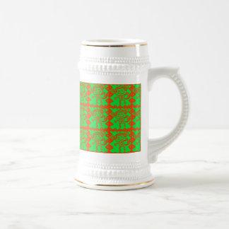 Cute Monkey Orange Green Animal Pattern Coffee Mug