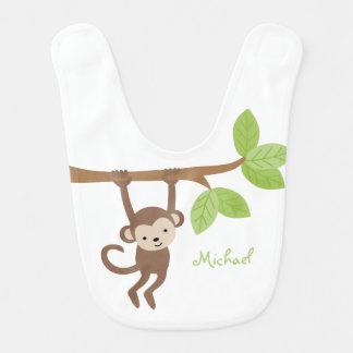 Cute Monkey Personalized Bibs