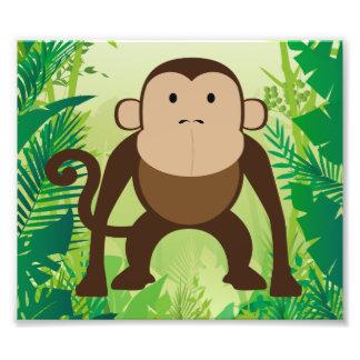 Cute Monkey Photo Print