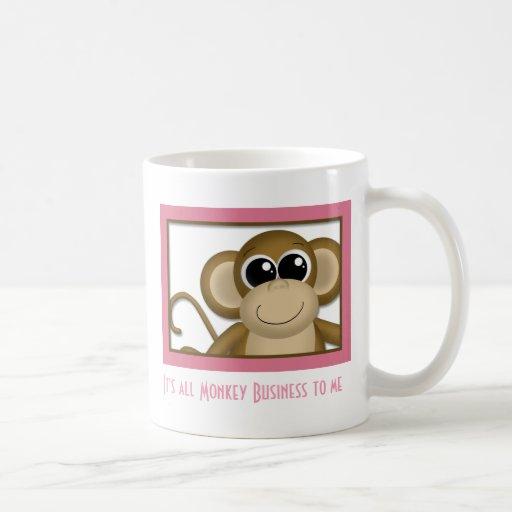 Cute Monkey Pink Mug