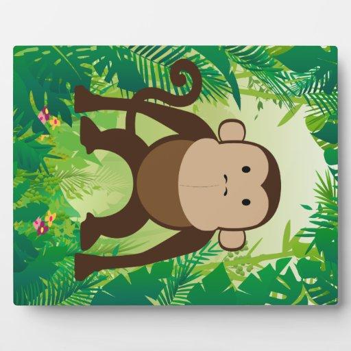 Cute Monkey Plaques