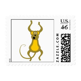 Cute Monkey Postage Stamp