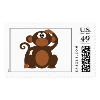 Cute Monkey Stamps