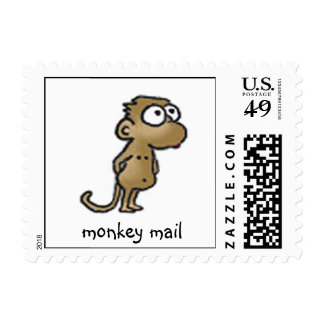 Cute Monkey Postage Stamps