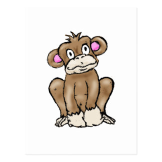 Cute Monkey Postcard