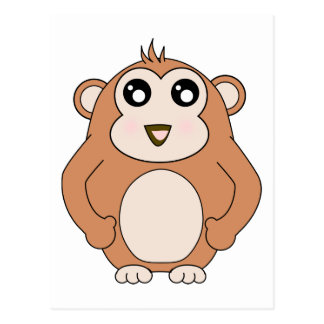 Cute Monkey Postcard