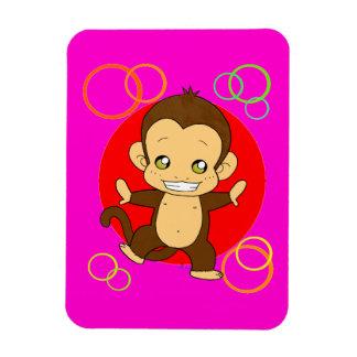 Cute Monkey Rectangular Photo Magnet