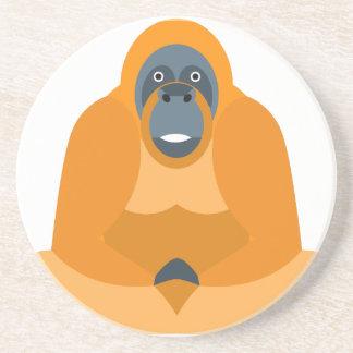 Cute monkey sandstone coaster