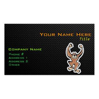 Cute Monkey; Sleek Business Card