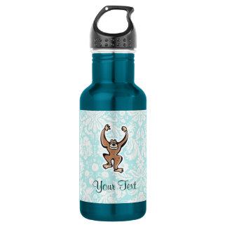 Cute Monkey; teal Stainless Steel Water Bottle